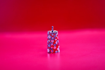 image of Diwali festival fireworks or firecrackers on red background.