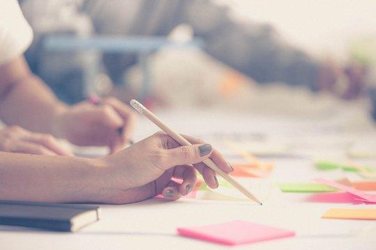 Hands. Team work. Design thinking. Startup concept