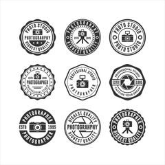Printed roller blinds Retro Badge stamps Photo Studio Collections