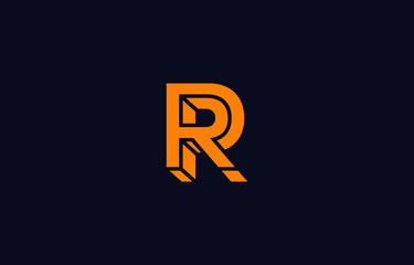 Initial R Letter Logo Design Vector Template. Monogram and Creative Alphabet RR Letters icon Illustration.
