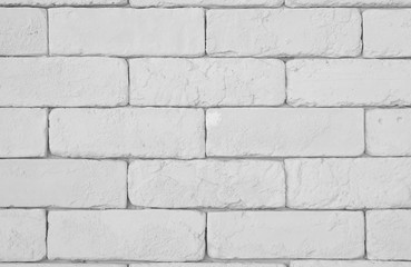 old white paint brick wall textured background or rough floor and table on top view for interior or...