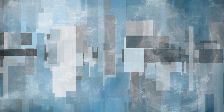 Geometric abstract in blue colors