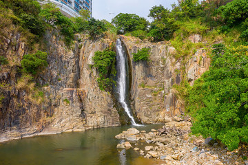 12 Oct 2019 Water fall in Bayside park area Wah Fu Estate