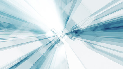 Blue glow white color transparent glass abstract background Fototapete