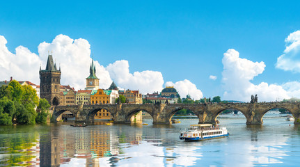 Fototapete - Charles bridge in Prague