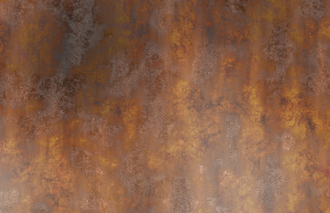 old rusty oxidized eroded metal