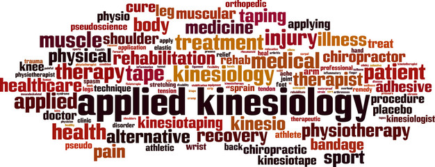 Applied kinesiology word cloud