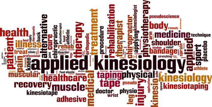 Applied kinesiology word cloud