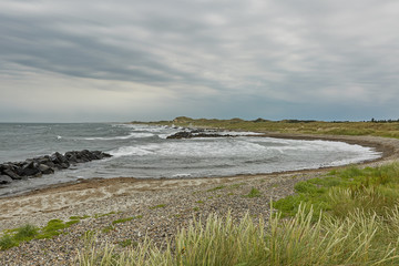 Seaside and landscape near town of Skagen in Denmark