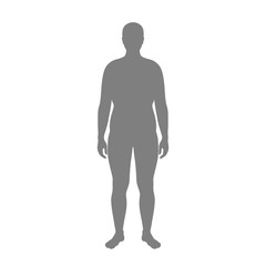 obese man silhouette