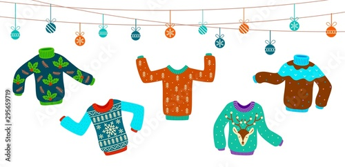 Ugly Christmas Sweater Dancing Knitting Sweaters Xmas