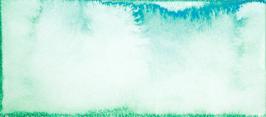 watercolor green rectangular with painted saturated edges and a free center space for text