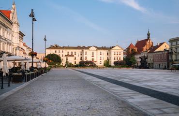 Bydgoszcz.  Kuyavian-Pomeranian Voivodeship in Poland.  Historic city architecture on the Old Town Square