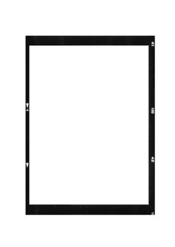scan of blank medium format photo film frame ratio 6 8 isolated on white background