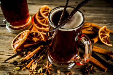 Hot Mulled Beer with spices
