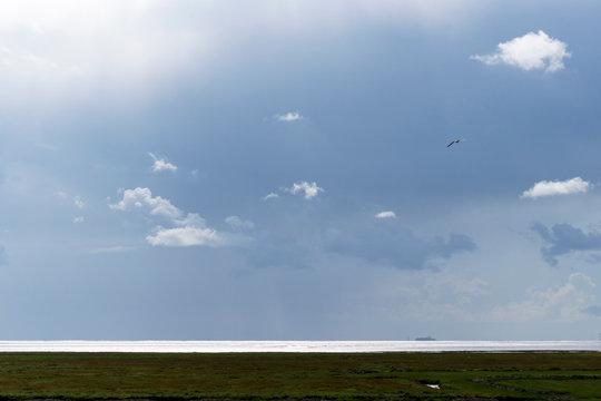 Dramatisches Wetter über der Nordsee