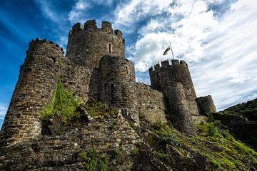 Conwy Castle. 13th century Conwy Castle, North Wales, United Kingdom