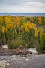 Scenic Autumn Day at Gooseberry Falls