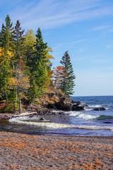 Autumn trees on Lake Superior