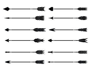 Hipster arrows collection. Big set of hand drawn, hipster arrows. Set of black hand drawn arrows. Set of Indian style arrows. Arrow for all design. Indian elements.