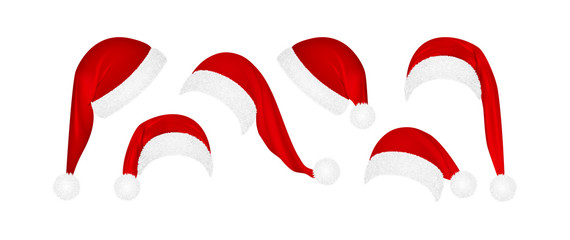 set of Christmas Santa Claus  hats