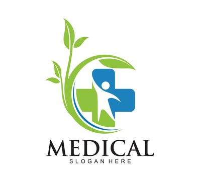 Medical pharmacy logo design template. vector logo. Medical icons