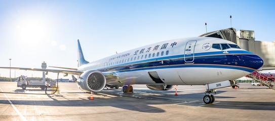 Boeing 737-8 max China southern, airport Pulkovo, Russia Saint-Petersburg. 02 June 2018.
