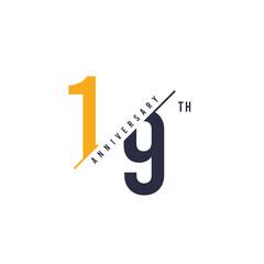 19 Th Anniversary Design