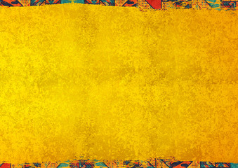 In de dag Afrika african background texture concept yellow gold colorful pattern mexico