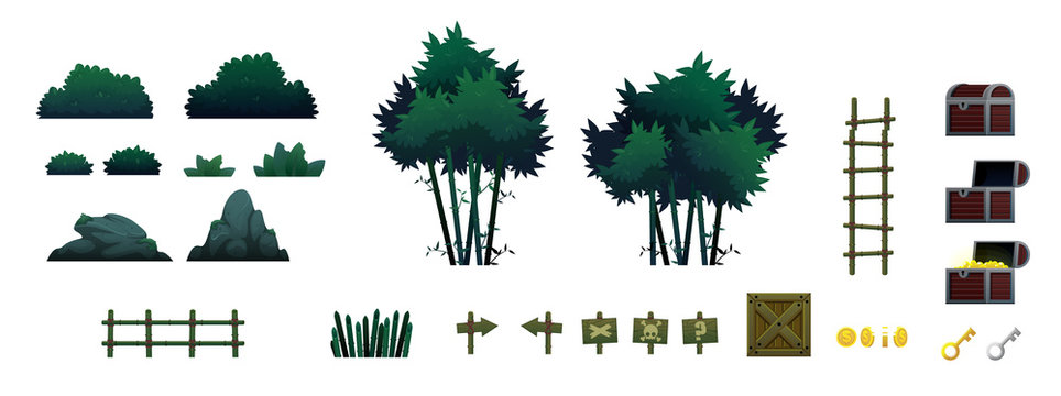 Bamboo Forest Game Objects