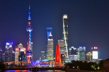 Aluminium Prints Shanghai shanghai in evening