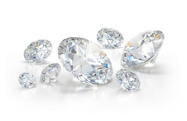 Lots of beautiful diamonds