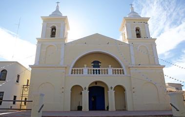 Church at San Carlos Borromeo village in the Argentine Northwest, Argentina
