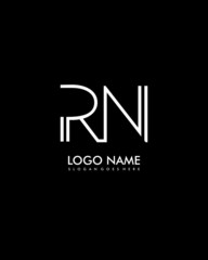 RN Initial minimalist abstract logo