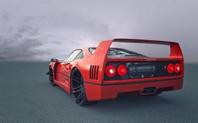 Ferrari F40 Rendering in alta risoluzione