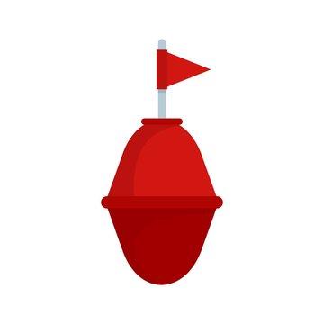 Port buoy icon. Flat illustration of port buoy vector icon for web design