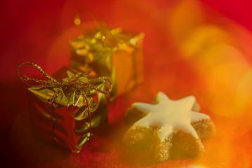 Wihnachten Geschenk zimtstern Bokeh