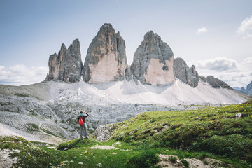 Wall Mural - Tre Cime di Lavaredo Natural Park, Dolomites, South Tyrol, Italy