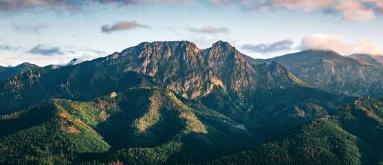 Tatra mountains panorama. Zakopane town in Poland