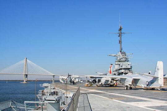 USS Yorktown Aircraft Carrier in Charleston, USA