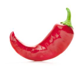 rode hete peper geïsoleerd op witte achtergrond
