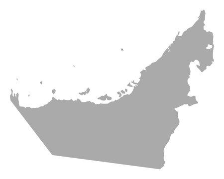 Karte der Vereinigten Arabischen Emirate