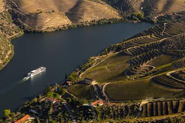 UNESCO World Heritage, a Cruise in  Douro River, Vineyards Valley in Sao Joao da Pesqueira, Viseu, Portugal.