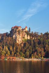 Die Burg vob Bled, Slowenien