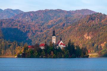 Postkartenmotiv: Insel Beld im Bleder See, Slowenien