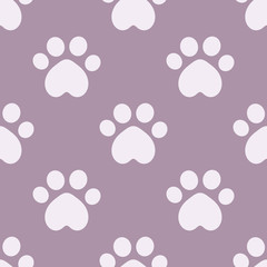Cat paws seamless wallpaper pattern.