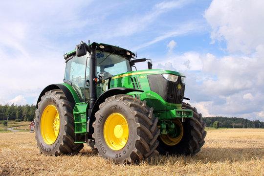 John Deere 6210R Tractor. Illustrative Editorial content.