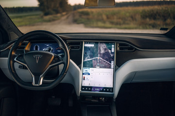 Tesla Model X P100D interior