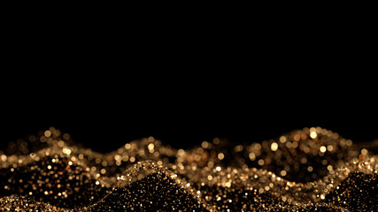 Luxury glitter background. 3d illustration, 3d rendering.
