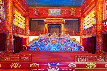 Duyet Thi Duong House, Royal Theatre in the Purple Forbidden city (Imperial Citadel) in Hue, Vietnam